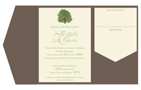pocket fold envelopes i early planners tree pocketfold invitation