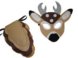 children u0027s woodland animal deer felt mask and tail set