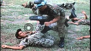 an arvn special forces instructor teaches hand to hand combat