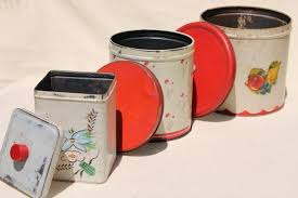 vintage metal kitchen canisters metal bread box tin kitchen canisters retro fixer uppers to