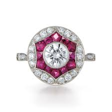 ruby engagement rings 8 dazzling red and pink engagement rings for valentine u0027s day glamour