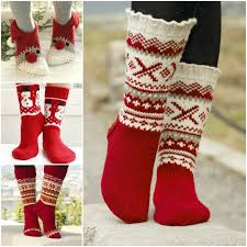knitted christmas 11 festive knitted socks for christmas with free pattern
