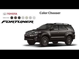 new toyota fortuner 2016 seven colors youtube