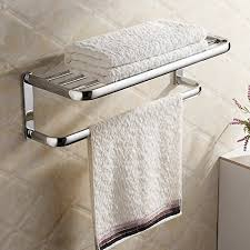 Bathroom Towel Shelves Wall Mounted Hiendure Brass Wall Mounted Towel Rack Hanger Holder Organizer Bar
