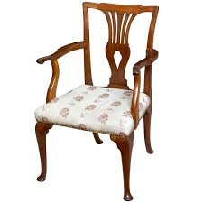 Queen Anne Armchair Queen Anne Mahogany Armchair On Cabriole Pad Feet English Circa