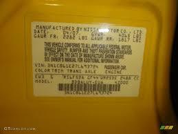 2007 sentra color code ew3 for solar yellow photo 52311299