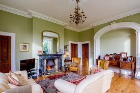 Home Design Group Northern Ireland A Victorian Home Near Belfast The Living Room Has A Black Marble