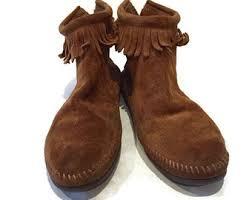 womens fringe boots size 9 fringe boots 9 etsy