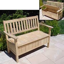small garden storage bench fearless gardener