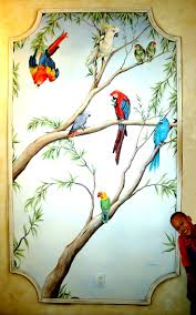 321 best a paint murals iv images on pinterest painted walls a mural commemorating a family s love for parrots carmenillustrates com