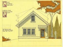 design study drawing in law rear yard residential cottage