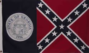 State Flag Of Georgia Georgia Louisiana Rebel