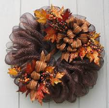 mesh wreaths fall deco mesh wreath by creations by melanie 55 00