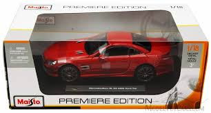 mercedes top model cars mercedes sl 63 amg maisto premiere 36199 1 18 scale