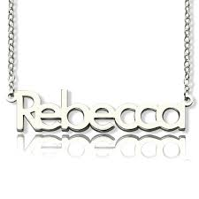 your own name necklace sterling silver