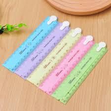 papeterie de bureau mignon kawaii bonbons pliage en plastique règle dessin modèles