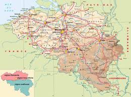 Physical Map Of Germany by Maps Of Belgium Detailed Map Of Belgium In English Tourist Map