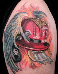 first fire department tattoo strike the box firefighter
