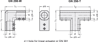 gn 298 t shaped and angular connectors