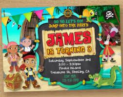 jake neverland pirates invitation pirate invitation