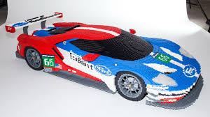 peugeot lego lego version of ford gt race car to be displayed at lemans video