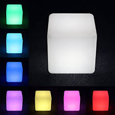 led cubes led cube 16 inch loftek shape light color changing