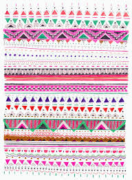 Colorful Aztec Rug Geometric Rug Pattern Borders Doodling Art Journaling
