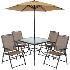 Folding Patio Table And Chair Set Mesmerizing Glass Patio Table And Chairs Tables Wooden 6 Metal