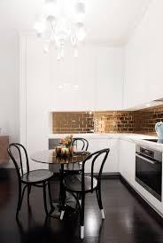 sydney iridescent tile backsplash kitchen contemporary with small