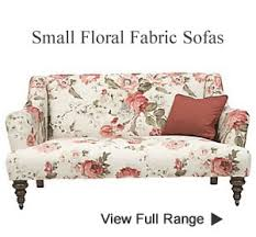 Small Fabric Armchair Small Bedroom Sofas Boudoir Chairs Floral Fabric Love Seat Two