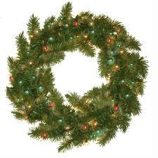 general foam 24 in pre lit carolina fir artificial wreath with