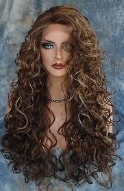 bimbo hairpieces huge ringlet style curls drag queen wig fluffy drag queen