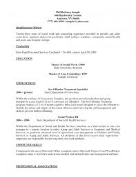 social worker resume exles resume sle social worker exle objective for work student