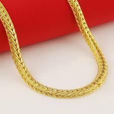 aliexpress buy new arrival fashion 24k gp gold wholesale 24k gold gp 5mm men s chain necklace 60cm fashion