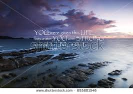 blurry sunset inspirational quote stock photo 671082691