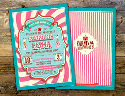 Graduation Party Invitation Card Circus Graduation Invitation Carnival Invitation Prom Invitation