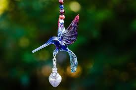 keepsakes for ashes glass hummingbird with silver keepsake urn for ashes by spirit