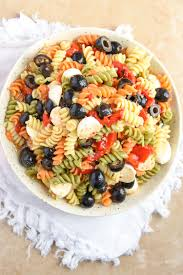 Pasta Recipes by Tri Colored Pasta Salad Recipe Courtney U0027s Sweets
