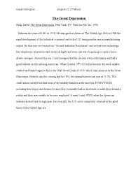 annotated bibliography the great depression
