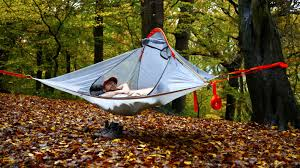 ultra light and portable flite tent lets you camp in the trees