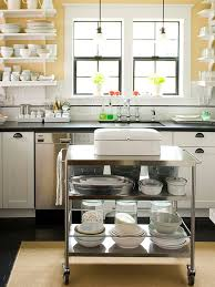 how to make a small kitchen island small space kitchen island ideas rolling kitchen cart black