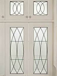 Love These Cabinets Seeded Glass With Diamond Pattern In Antique - Leaded glass kitchen cabinets