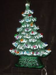 unique slim vintage ceramic christmas tree light up tree frosted