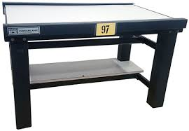 vibration isolation table used used kinetic systems 1201 02 11 for sale