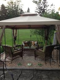 idea for gazebo on sale for just over 1000 at lowe u0027s in july