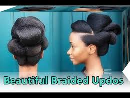 images of black braided bunstyle with bangs in back hairstyle 25 cute braided updos for natural black hair african bun