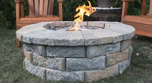 building fire pit in backyard backyard projects build a clean burning fire pit doityourself com