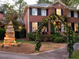 fetching christmas decoration using outdoor wooden christmas yard