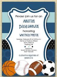 baby shower invitations sport themed baby shower invitations