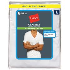 Hanes Our Most Comfortable T Shirt Hanes Men U0027s Classics Comfortsoft Tagless V Neck Tees 6 Pack